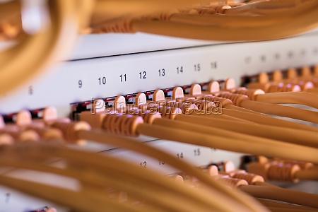 kabel die mit dem server verbunden