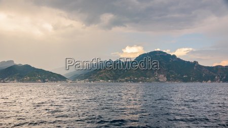 panoramic view of amalfi coast at