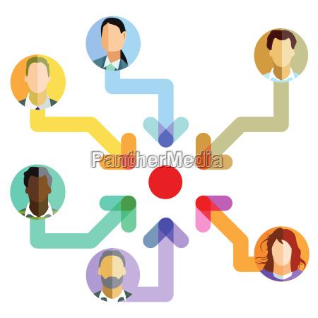 team ziel entwicklung symbol illustration