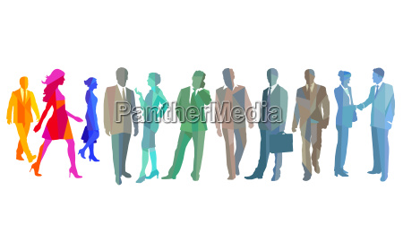group picture of different business people