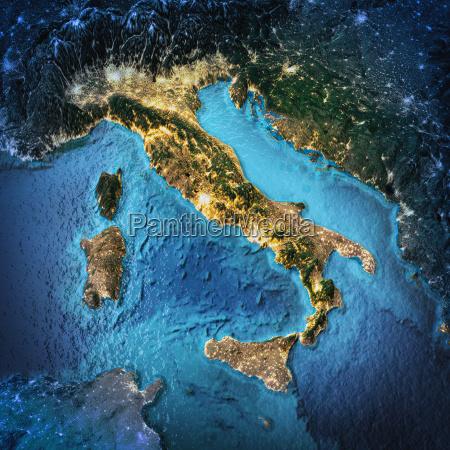 italien weltraum hintergrund