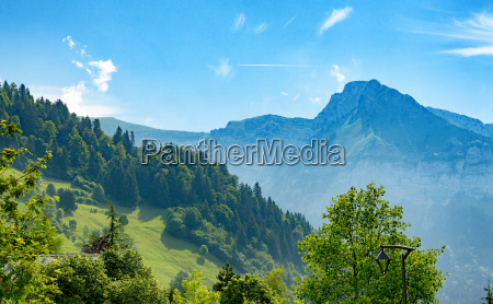 view of mountain in haute savoie