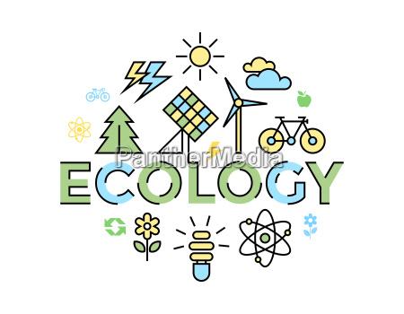 digital vector yellow blue ecology environment