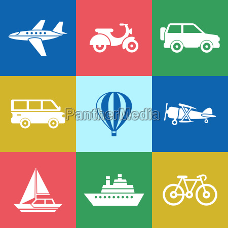 digital vector red green blue travel