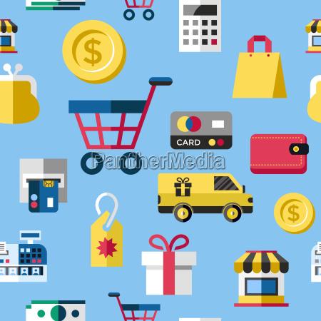 digital vector blue yellow shopping sale