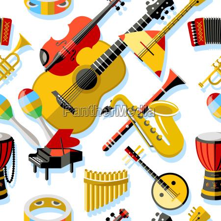 digitale vektor gelb rote musik instrumente