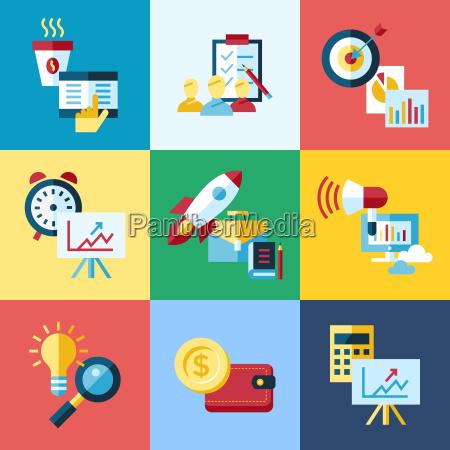 digital vector blue red work space