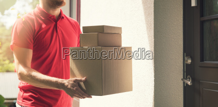 home delivery service deliveryman with