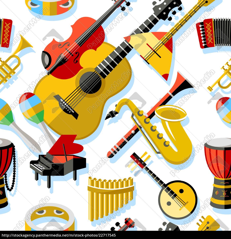 digitale, vektor, gelb, rote, musik, instrumente - 22717545
