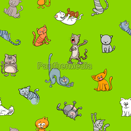 cartoon wallpaper design with cats