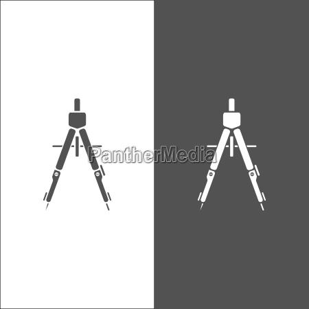 zeichnung, kompass-symbol - 22719679