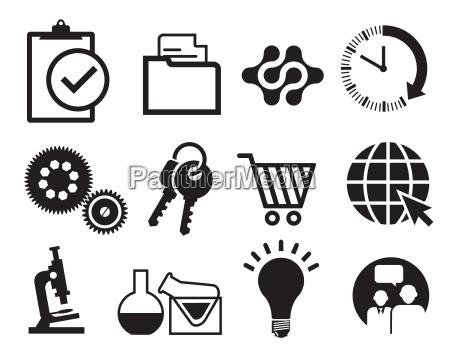 infografik information icon set isoliert