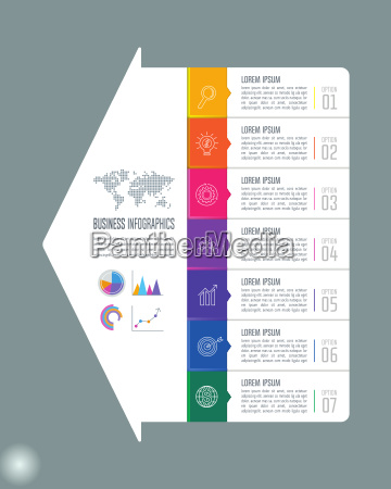 creative concept for infographic with 7