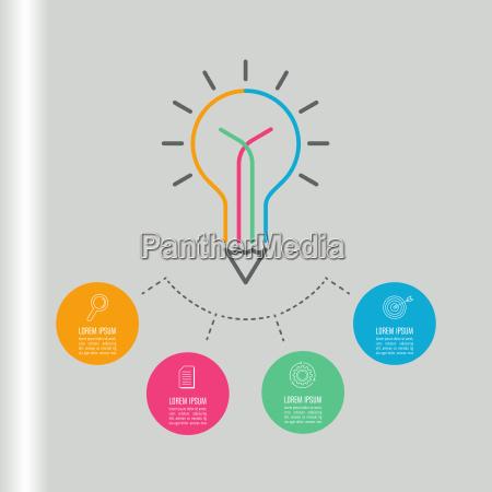 creative writing light bulb and pencil