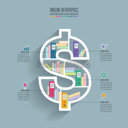creative concept for infographic dollar sign