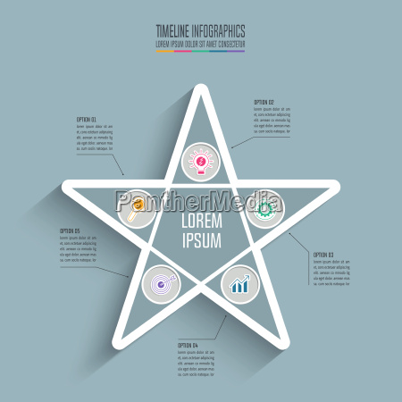 creative concept for infographic star timeline
