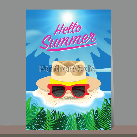 hello summer background beach island background
