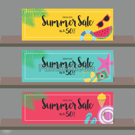 summer sale background for poster brochure