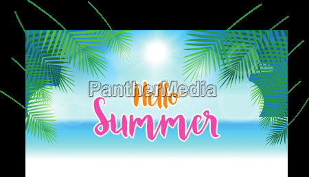 hello summer concept summer background with