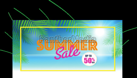 summer sale background for banner voucher
