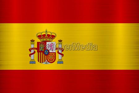 flagge spanien metallbeschaffenheit