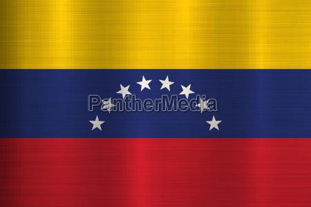 flagge venezuela metall textur