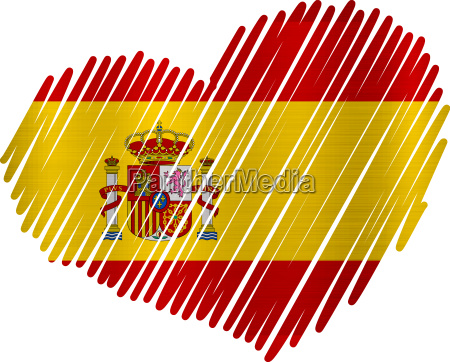 spain heart flag metal texture