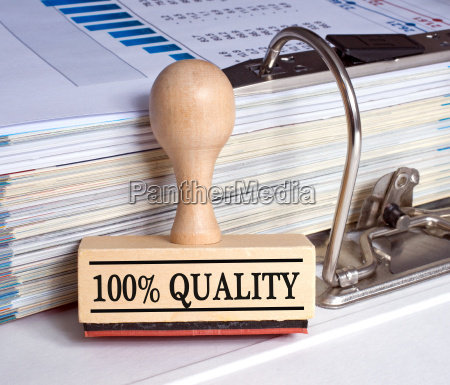 100 percent quality stamp with
