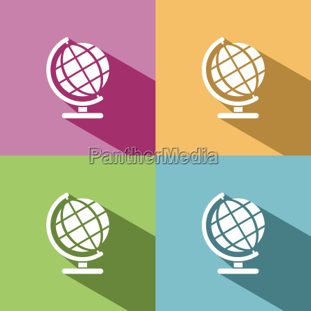globe icon for education