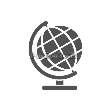 globe, icon, für, bildung - 22731483