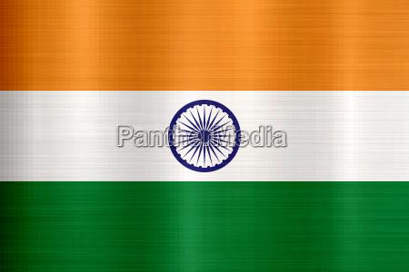 flag of india metallic texture