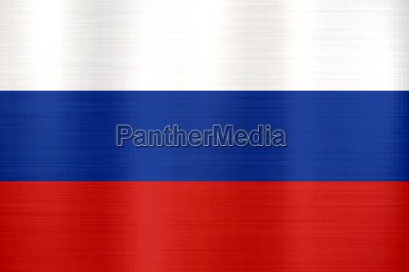 russland flagge metallische textur