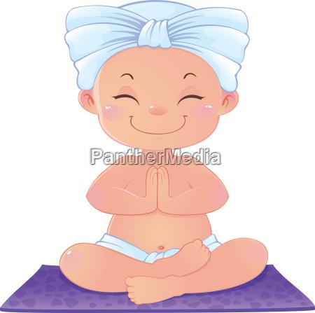 yogi in der meditation sitzt in