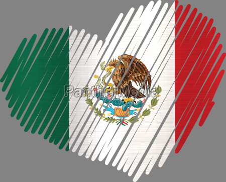 lined heart mexico metallic texture