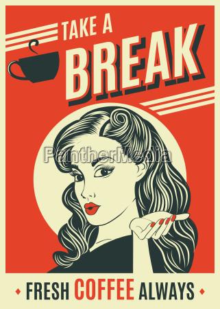 werbung retro poster mit pop art