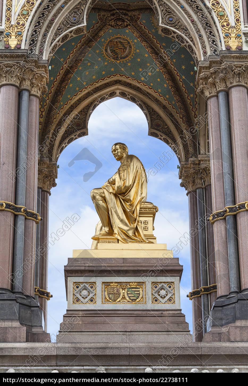 prince, albert, memorial, , golden, statue, , kensington - 22738111