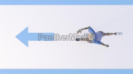 robot running 3d rendering