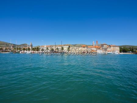 croatia dalmatia trogir old town riva