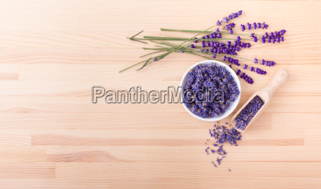 porcelain bowl with dried lavender