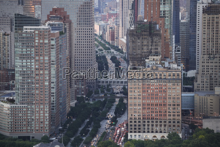 usa new york city traffic aerial