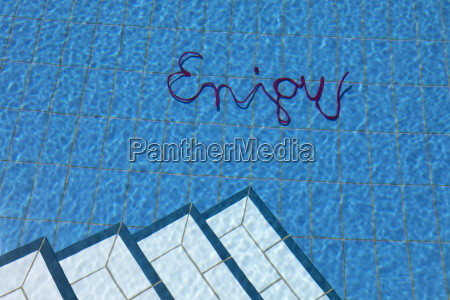 word enjoy in water of a