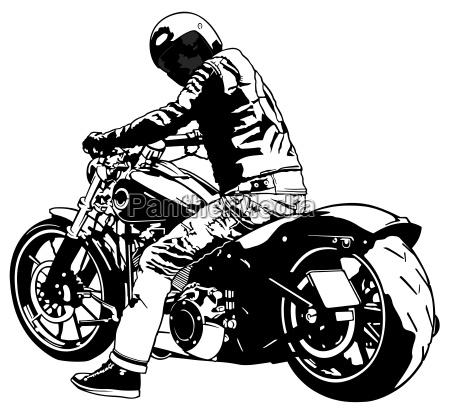 harley davidson und reiter