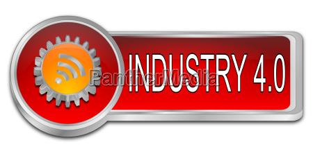 rot orangefarbene industrie 40 3d illustration