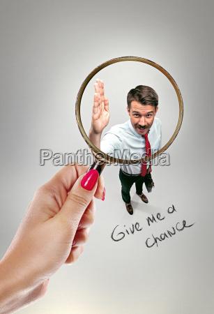 job interview mit manager im buero