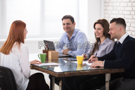 business people conducting job interview
