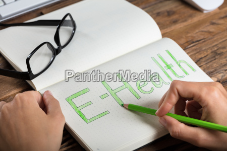 businessperson drawing e health concept