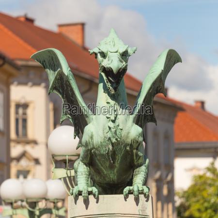 famous dragon bridge symbol of ljubljana