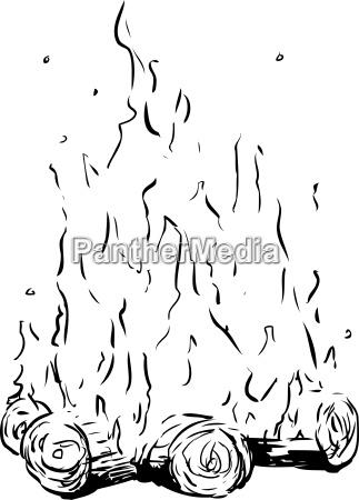 lagerfeuer ausgeschnitten cartoon freudenfeuer zeichentrickfilm zeichentrick
