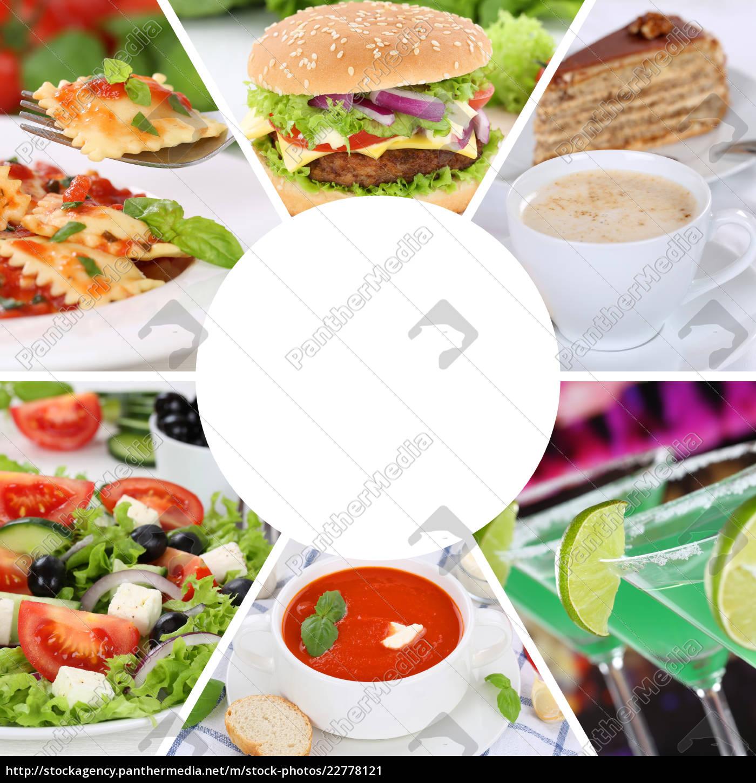 Karte Essen.Stockfoto 22778121 Sammlung Collage Karte Speisekarte Essen Und Trinken Gerichte
