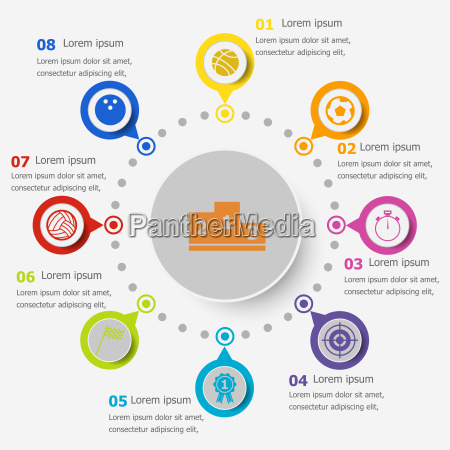 infografikvorlage mit symbolen